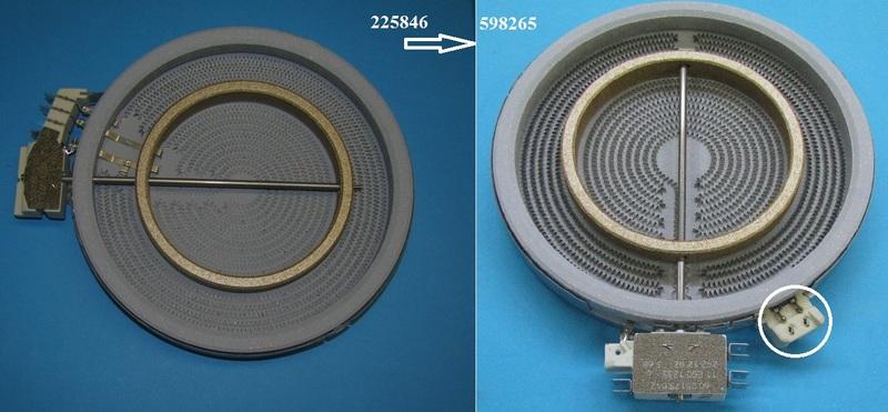 Конфорка для стеклокерамической плиты Gorenje 225846