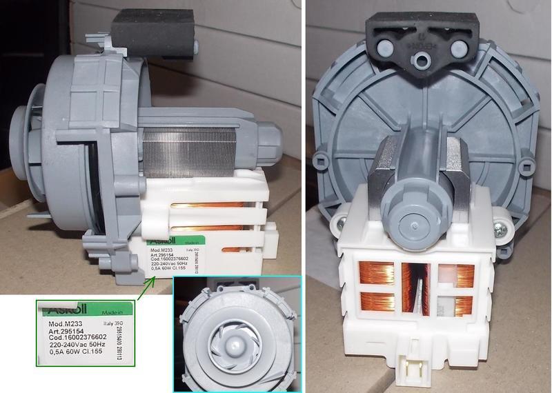 Насос рециркуляционный ASKOLL M233 60W для посудомоечной машины ARISTON,INDESIT 302796,C00302796
