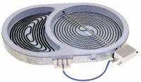 Конфорка 2400/1500W  для стеклокерамической плиты 607620